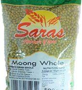 SARAS MOONG GREEN WHOLE (500g)