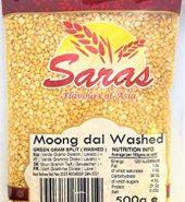 SARAS YELLOW MOONG DAL/WASHED(500g)